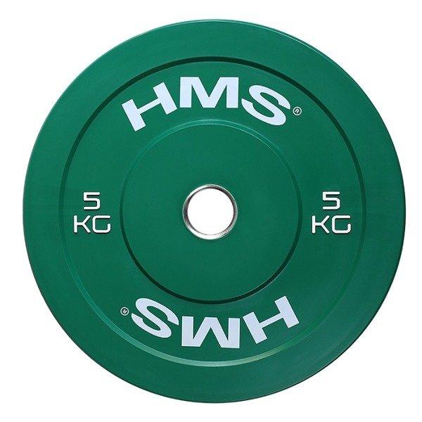 7aeadf3165513 Talerz Żeliwny Olimpijski do gryfu HMS BUMPER 5 g 5 kg
