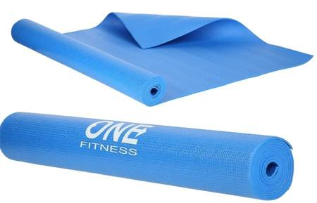 Mata do ćwiczeń fitness jogi 0,3 cm BLUE HMS YM01
