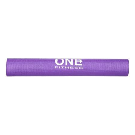 Mata do ćwiczeń fitness jogi 0,3 cm PURPLE HMS YM01