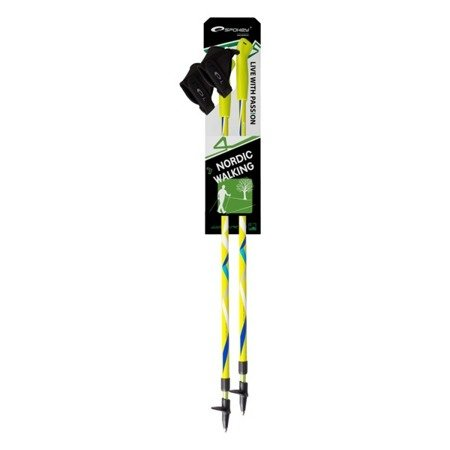 Regulowane Kije Kijki ZIGZAG Nordic Walking SPOKEY Yellow